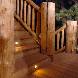 Berkley Recessed LED Riser Light by Highpoint Deck Lighting - installed