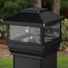 Solar Post Cap for DecKorators CXT Railing System - Black