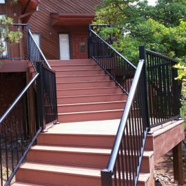 Century Aluminum Stair Rail Balusters -installed