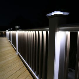 Under Rail Deck Lighting Railing