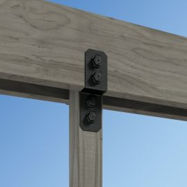 Strongly anchor pergola, arbor, and pavilion posts to wooden beams with the Simpson Strong-Tie Avant Joist Tie.