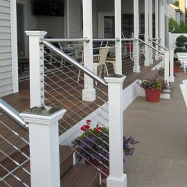 The RailEasy™ Nautilus Top Rail Tube offers a modern look for your outdoor space.