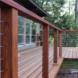 Available in lengths of 100 feet or 500 feet,  you can cut the the RailEasy™ cable to the specific lengths needed for your railing.