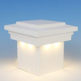 Cape May Downward Low Voltage LED Post Cap Light by LMT Mercer - Warm (3k) - White