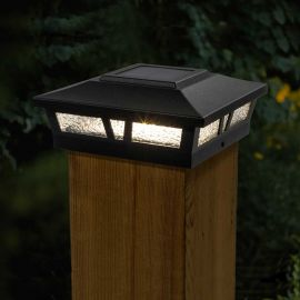 Add a classic look to your deck design with the simple Oxford Solar Post Cap Light by Classy Caps