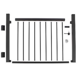 The Century Aluminum Railing Gate Kit is a complete metal deck gate all in one easy-to-install package!