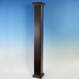 The Post Sleeve for Deckorators CXT Rail System is a complete post setup all in one package (shown here in Dark Walnut).