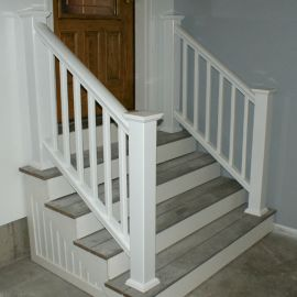 The Post Sleeve for Deckorators CXT Rail System, shown in White, includes a post cap and skirt.