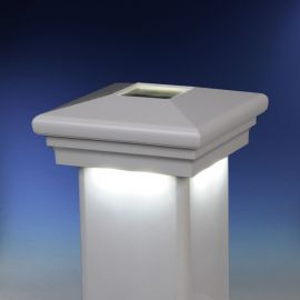 Neptune Downward Solar Post Cap Light by LMT Mercer - White