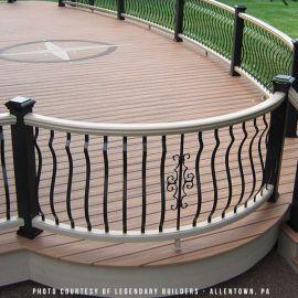 Fleur de lis Centerpiece for Round Baluster by Deckorators