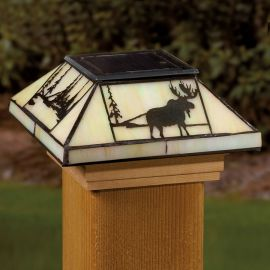 Deckorators Filigreed Nothwoods Solar Post Cap Light