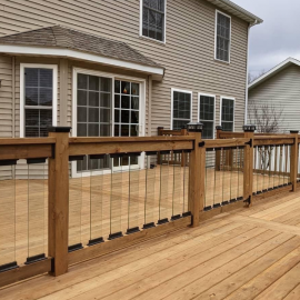 Scenic Frontier Glass Balusters by Deckorators
