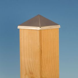 Aluminum Post Point by Deckorators - Stainless Steel - 3-5/8 inch