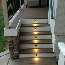 Recessed LED Step Light with Shade - Installed