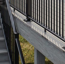 Wrap up your deck design with a beautiful touch of detail around your perimeter and along staircases with the clean look of Deckorators Vault Fascia Boards.