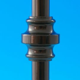 Collar Accessory for Round Baluster by Deckorators installed on baluster.