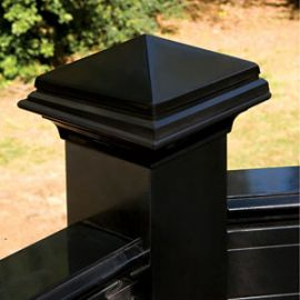 Polish off your deck railing and posts with the completing look of the Pyramid Post Cap by Deckorators.