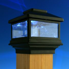 Solar Post Cap Light by Deckorators illuminate your outdoor space to help keep family and friends safe from trips and falls.