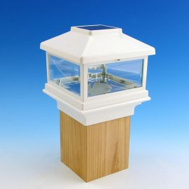 Add a Solar Post Cap Light by Deckorators to gain a nautical detail to your space and a warm illumination throughout the night.