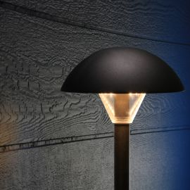 Keep your deck and backyard safe for guests with the Mushroom Pathway Light by Dekor.