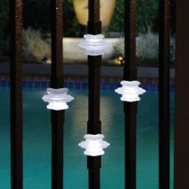 Dekor Single Casey Collar Square Baluster with Light