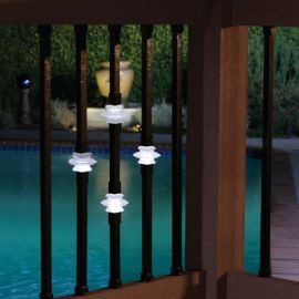 Dekor Double Casey Collar Square Baluster with Lights
