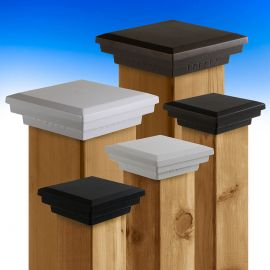 With a variety of powder-coat colors and popular wooden post sizes available, the Premium Cast Flat Top Post Caps by Dekor can complete any outdoor space.