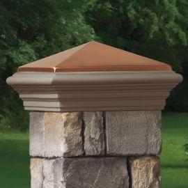 Post Cap for Cast Stone Post Cover by Deckorators - Copper Finish Cast Stone