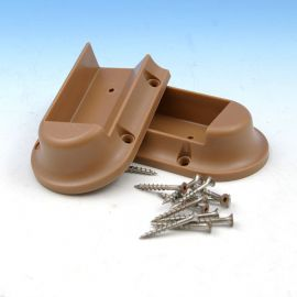 Universal Rail Connectors with Color Match Square Head Screws-Angle-Cedar