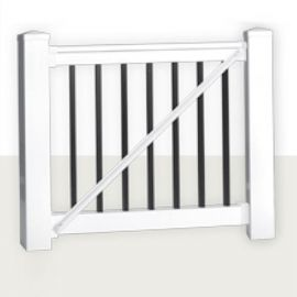 The Bradford Gate Kit by Durables features all pieces and installation hardware for a complete gate all-in-one.