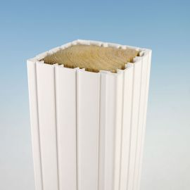Fluted Vinyl Column Wrap by Durables - White