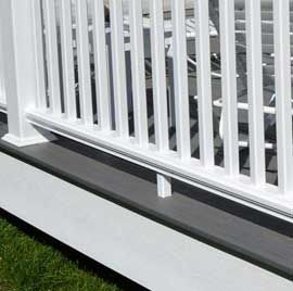 Create a clean perimeter on your deck and stairs with DuraLife Fascia Boards in White.