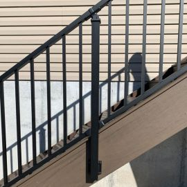 The Westbury Tuscany Fascia Post creates a strong stair railing that opens up the full space of your staircase.