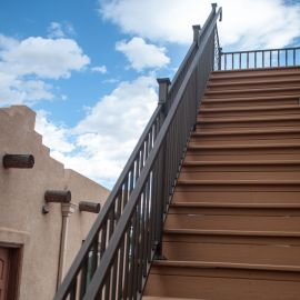 FE26 Square Handrail by Fortress - Antique Bronze