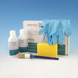 The Stainless Steel Cleaner and Protectant Combination Pack by Feeney includes all the items you'll need to protect your Feeney CableRail from corrosion, contaminants, dust and more.