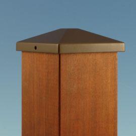 Aluminum Post Cap by Feeney - Bronze - 3-5/8 inch
