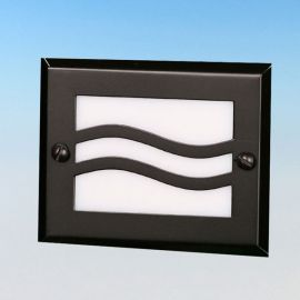 Lake Powell Recessed LED Riser Light by Highpoint Deck Lighting - Textured Black