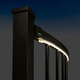 Flex Deck LED Rope Light by Dekor - Installed - Light On