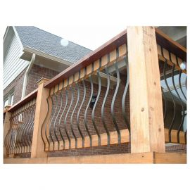Vienna Series Face-Mount Belly Balusters by Fortress - Black Sand