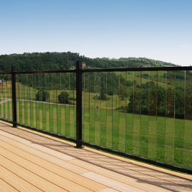 Pure View Glass Balusters by Fortress Iron
