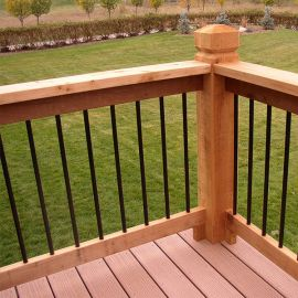 Vintage Series Round Baluster by Fortress Iron - Gloss Black