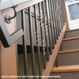 Mega Series Square Twist Baluster by Fortress Iron - Antique Bronze