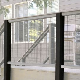 Transcend Post Sleeves - Charcoal Black - Installed with Wild Hog
