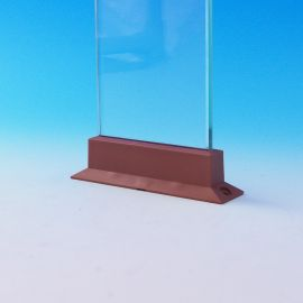 Level Glass Baluster Connectors by Deckorators - Installed - Cedar