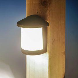 Genesis LED Rail Light by Highpoint Deck Lighting - Antique Bronze - lit