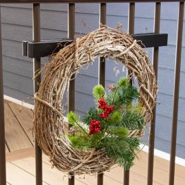 Make your deck festive and use Hold It Mate's Basket Hook Bundle to easily hang up all your party decorations.