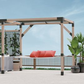Find your favorite afternoon nap spot with the LINX Hammock Kit by Wild Hog Railing installed in the LINX Pergola system.