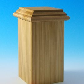 Hatteras Castine Flat Bottom Post Cap by DecKorators - Cedar