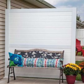 Create a relaxing space in moments by adding a shade wall with the HideAway Privacy Rail Kit from RDI!
