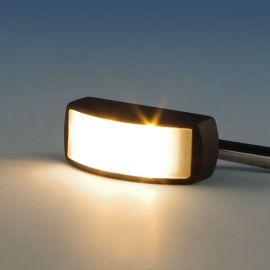Endurance LED Rail Light by Highpoint Deck Lighting - Antique Bronze - lit